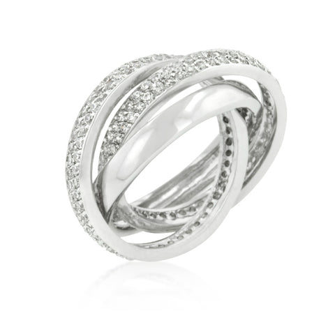 Danal Eternity Band Triplet  CZ Ring | 6ct | Cubic Zirconia