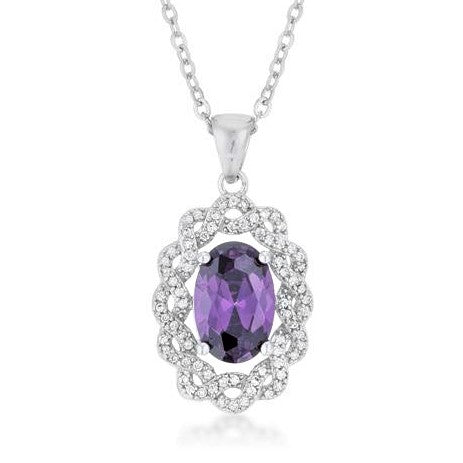 Destry Amethyst Oval Pendant | 7.3ct