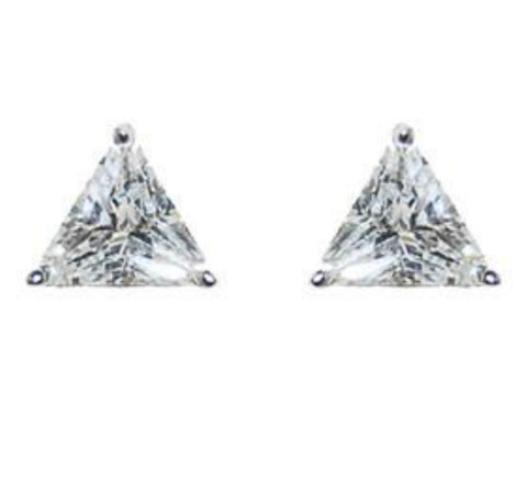 Dueart Trillian CZ Stud Earrings - 4mm | Cubic Zirconia | Silver