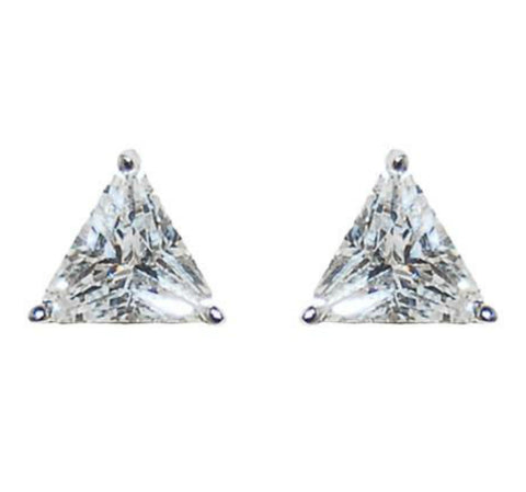 Dueart Trillian CZ Stud Earrings - 6mm | Cubic Zirconia | Silver