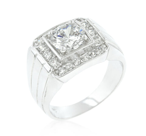 Edwin Pave Cubic Zirconia Men Ring | 3.5ct | Cubic Zirconia | Silver