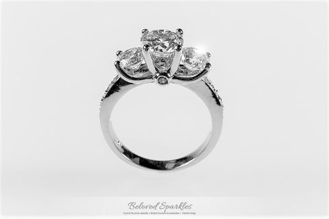 Elizabeth Three Stone Engagement Ring  | 3ct
