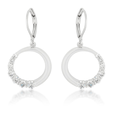 Eria Graduated CZ Circle Earrings | 1ct