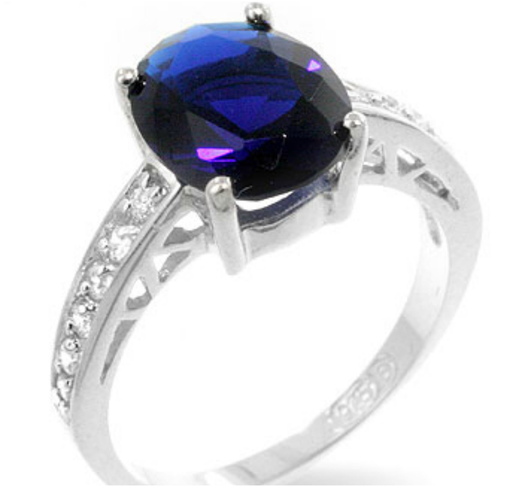 ring solitaire sapphire unheated oval diamond and light carat natural engagement pin blue white gold