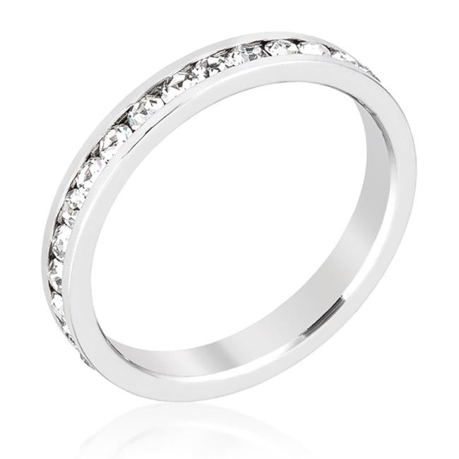 Gail Clear Round Eternity Stackable Wedding Ring | 1ct