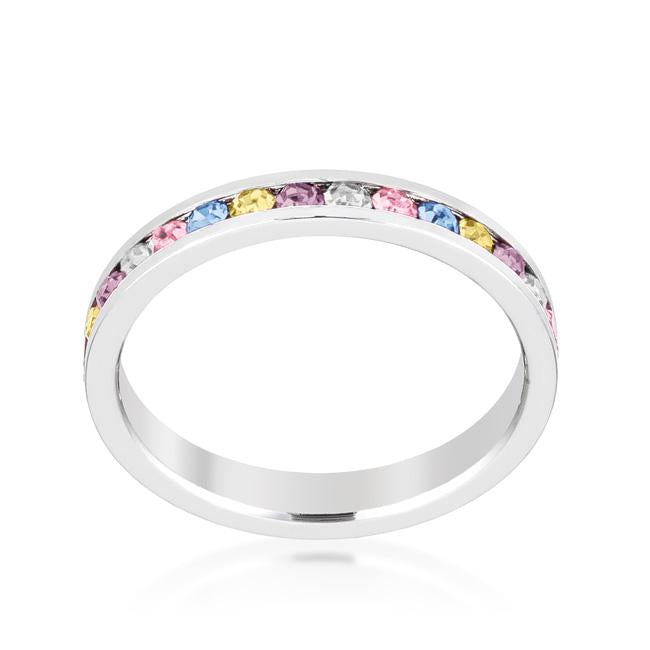 Gail Multi Color Eternity Stackable Wedding Ring | 1 Carat | Crystal - Beloved Sparkles  - 1