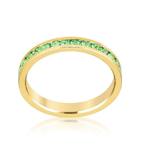 Gail Peridot Green Eternity Stackable Ring | 1ct | 18k Gold