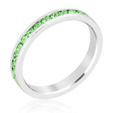 Gail Peridot Green Eternity Stackable Wedding Ring | 1 Carat | Crystal - Beloved Sparkles  - 1