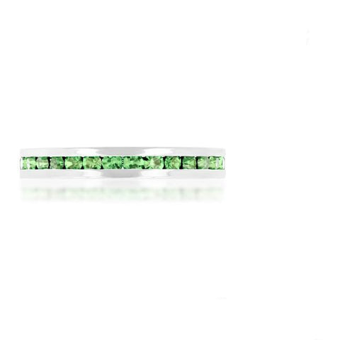 Gail Peridot Green Eternity Stackable Ring | 1ct