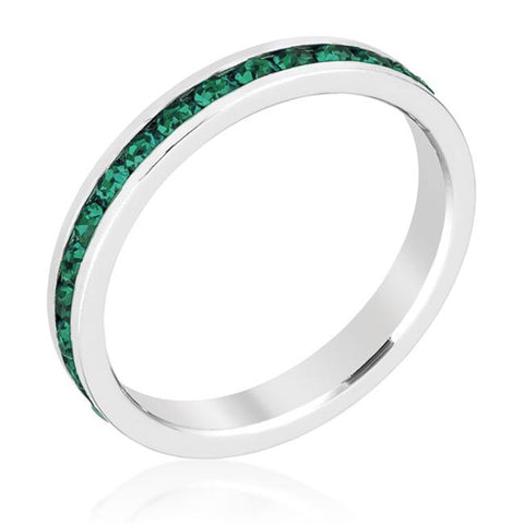 Gail Emerald Green Eternity Stackable Wedding Ring | 1ct