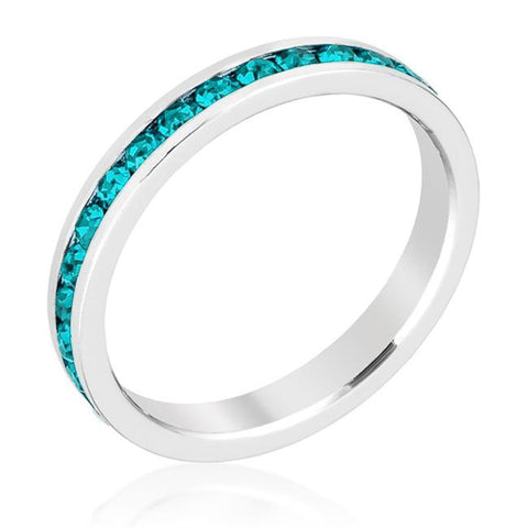 Gail Turquoise Green Eternity Stackable Wedding Ring | 1ct