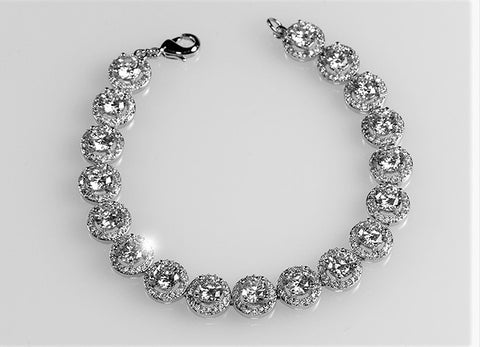 Galina Round Halo Statement Bracelet - 7in