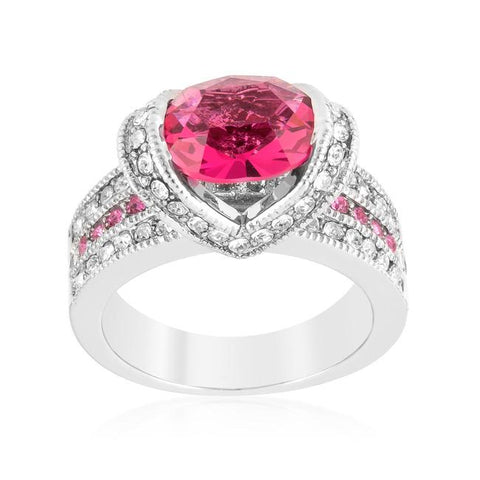 Garett Vintage Pink Oval Cut Engagement Ring | 2.8ct