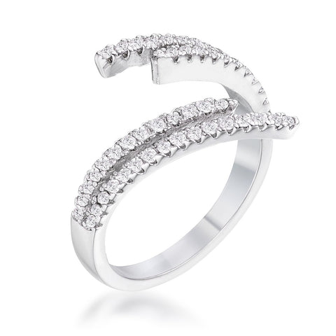Genelle Delicate CZ Wrap Ring | 1.2ct