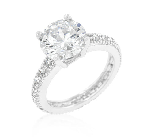 Genevi Classic Soliatire Engagement Eternity Ring | 4ct | Cubic Zirconia - Beloved Sparkles  - 2