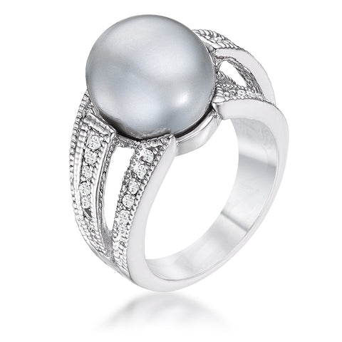 Gina Stimulated Gray Pearl Ring
