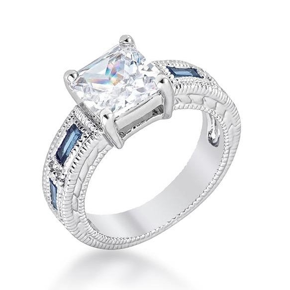 Halle 3ct Princess CZ Solitaire Engagement Ring | 4ct