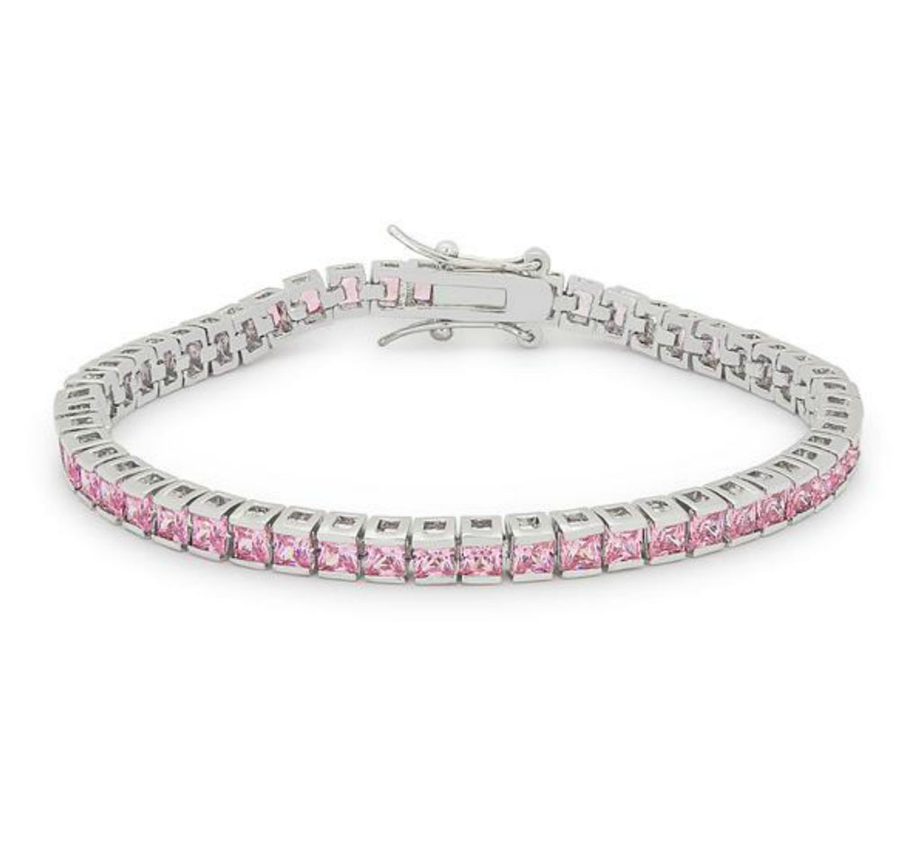Hana Pink Princess CZ Tennis Bracelet – 7.5in | 11ct