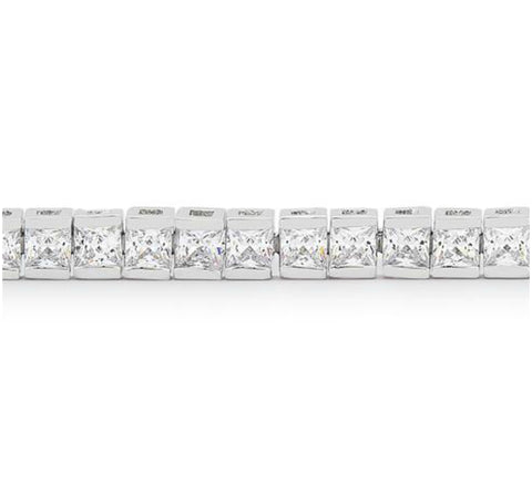 Hana Princess Cut CZ Tennis Bracelet – 7in | 11ct