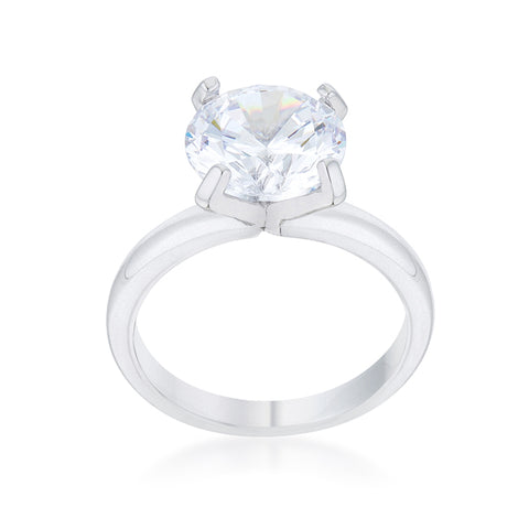 Hanna Round Classic Solitaire Engagement Ring | 4.5ct