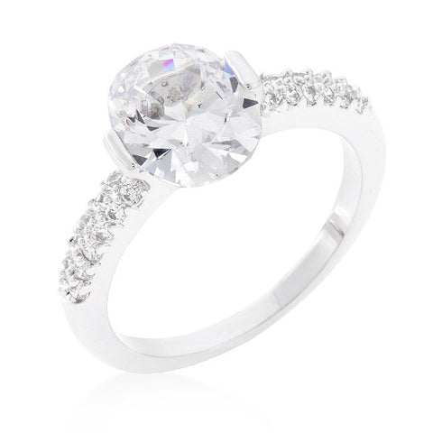 Harla Oval Cut Solitaire Engagement Ring | 2.2ct | Cubic Zirconia - Beloved Sparkles  - 2