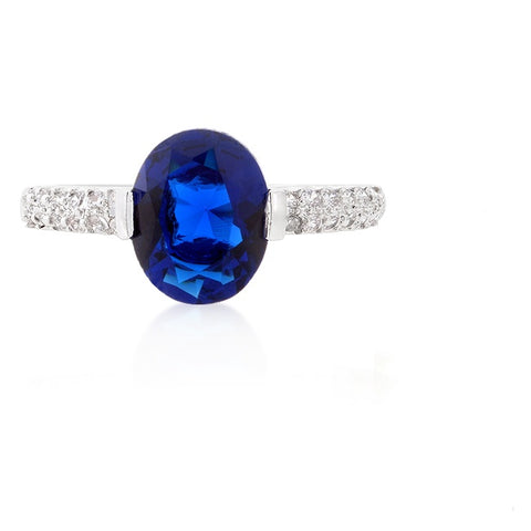 Harla 1.8(ct) Sapphire Blue Oval Solitaire Engagement Ring | 2.2ct