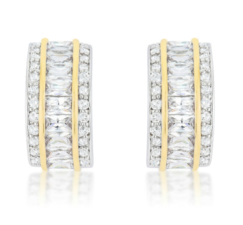 Heidi 23mm Two-Tone Statement Earrings | 4ct