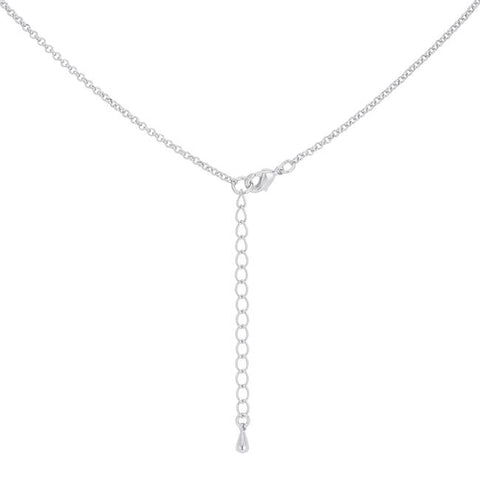 Heidi Two-Tone Row Hoop Pendant | 4ct