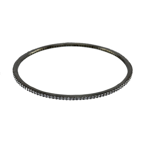 Hyde CZ Hematite Stackable Bangle