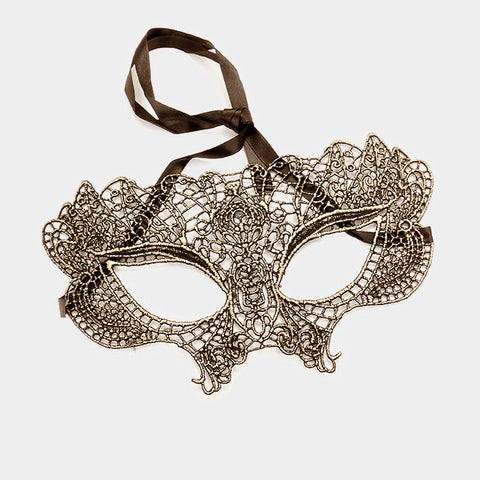 Hydi Sexy Gold Lace Maquerade Mask | Gold