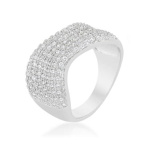 Hydie Cluster Winding Statement Cocktail Ring | 4 Carat | Cubic Zirconia