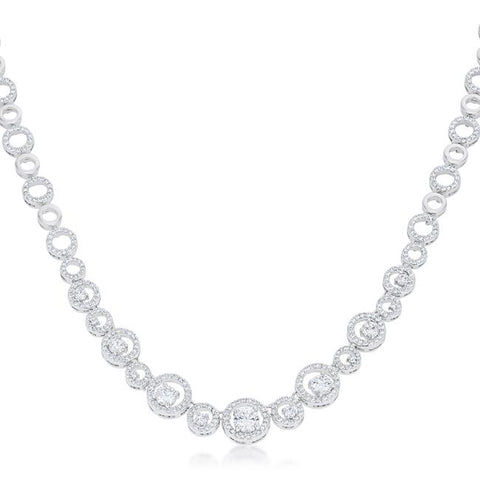 Inessia Graduated Cubic Zirconia Necklace | 45ct