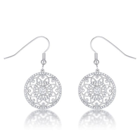 Iyanna Interlocking Circles CZ Drop Earrings | 1ct