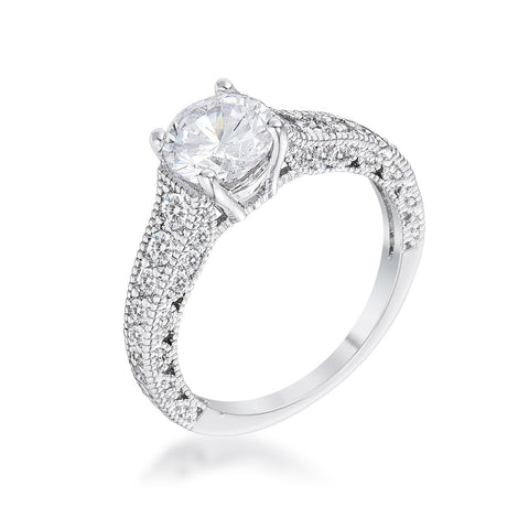 Janara Antique CZ Solitaire Engagement Ring | 2.5ct