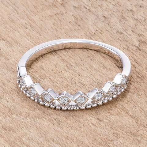 Jaydie CZ Mini Crown Stackable Band Ring