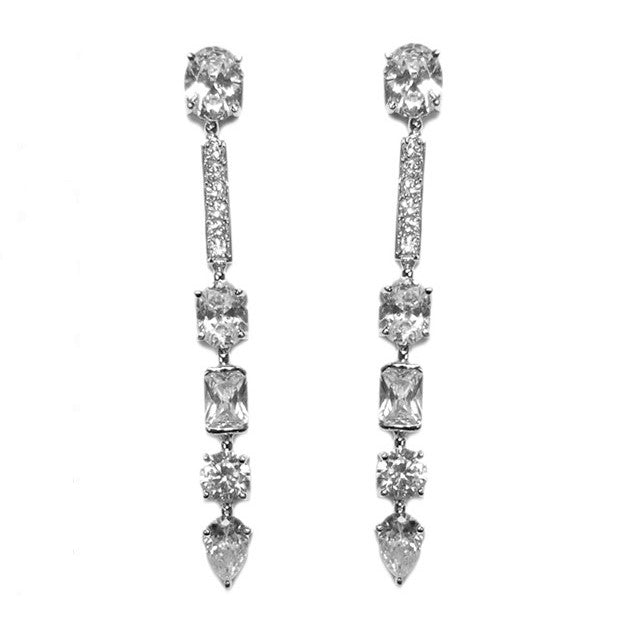 Jazzell Linear CZ Earrings
