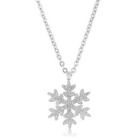 Noelle Snowflake Silver Necklace