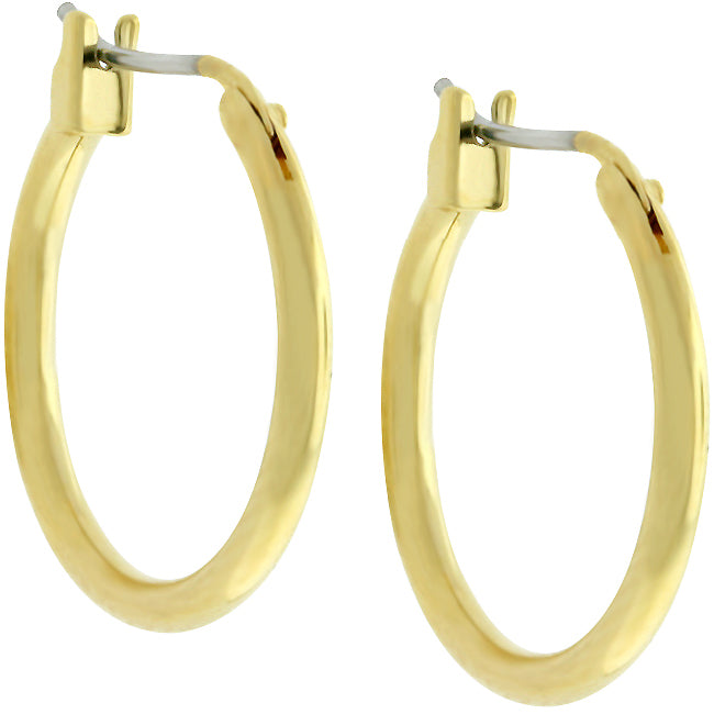 Jetta Small Golden Hoop Earrings  | 18k Gold