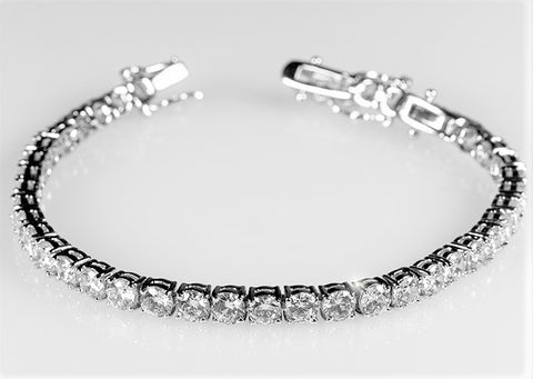 Juliette Round CZ Tennis Bracelet - 7.25in & 8in | 10ct