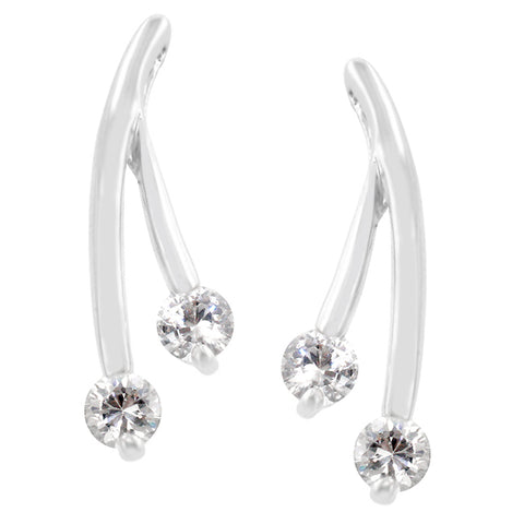 Kanda Branched CZ Stud Earrings