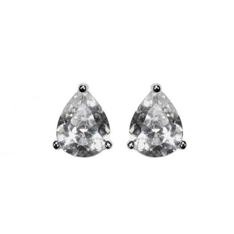 Kanisha Pear CZ Stud Earrings - 5mm | 0.25ct