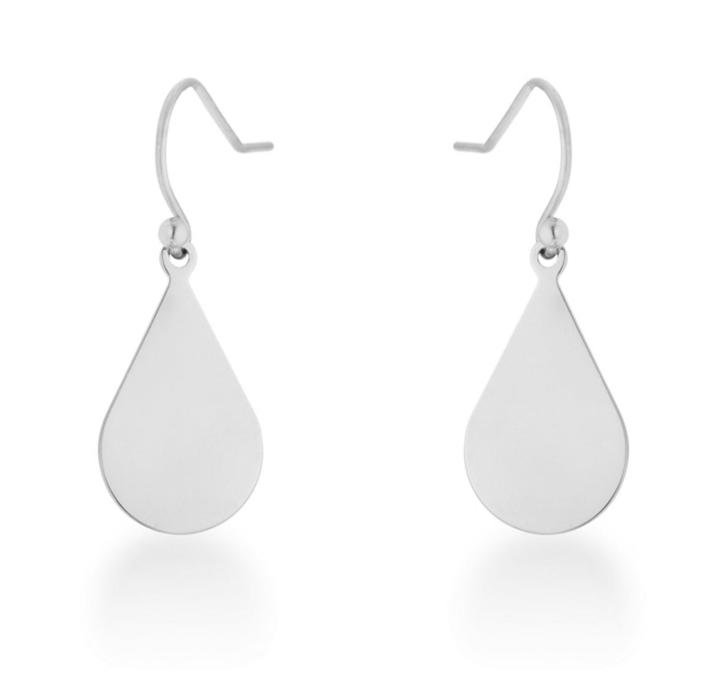 Karla Teardrop Drop Earrings | Stainless Steel