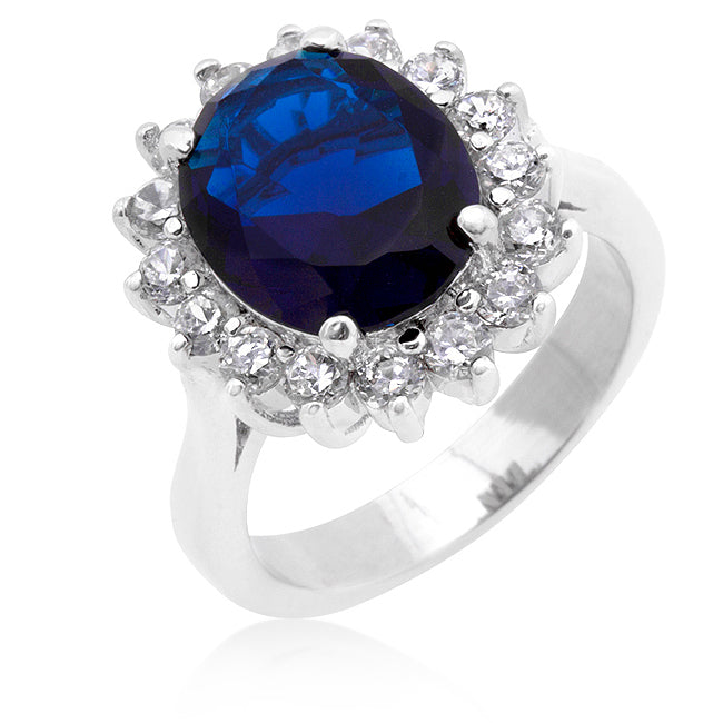 katie halo products princess zirconia classic carat diana silver cambridge royal beloved sapphire cocktail engagement ring sparkles blue oval cubic