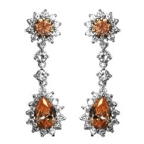 Kimmy Champagne Drop Chandelier Earrings | 6ct