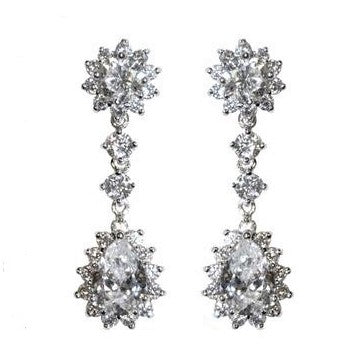 Kimmy pear drop dangle chandelier earrings 6ct cubic zirconia kimmy pear drop dangle chandelier earrings 6ct cubic zirconia silver arubaitofo Images