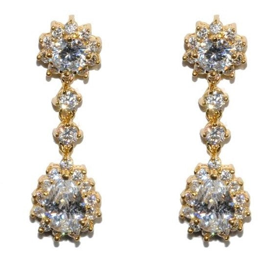 Kimmy Gold Chandelier Earrings | 36mm