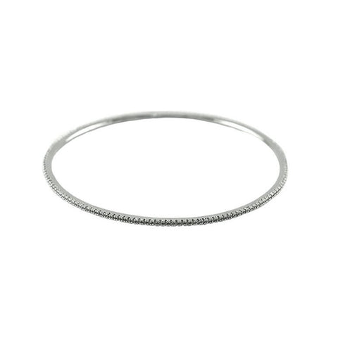 Konstance CZ Eternity Silver Bangle Bracelet