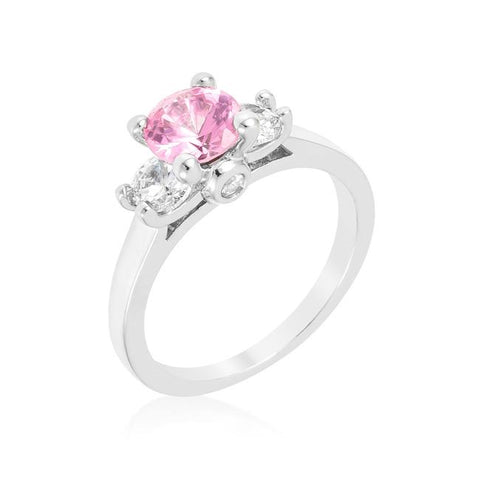 Leana Pink Three Stone CZ Ring | 1.8ct