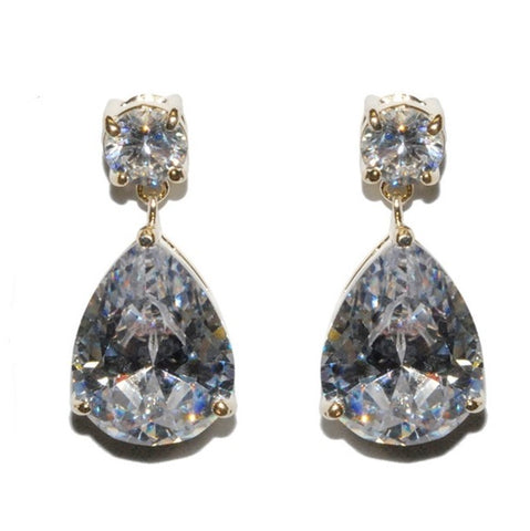 Lia PearGold Drop Earrings | 7.5ct