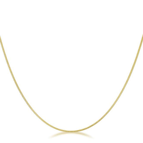 Liv Interlocked Gold Necklace | 16in